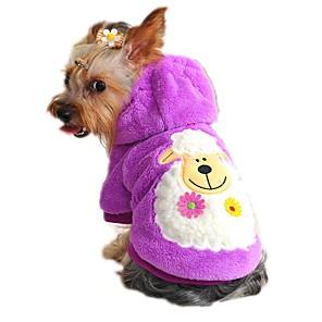 ieftine Imbracaminte & Accesorii Căței-Pisici Câine Hanorace cu Glugă Îmbrăcăminte Câini Desene Animate Rosu Verde Albastru Lână polară Costume Pentru Primăvara & toamnă Iarnă Bărbați Pentru femei Casul / Zilnic