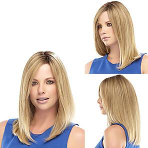 ieftine Peruci & Extensii de Păr-Peruci Sintetice Drept Drept Perucă Blond Blond Păr Sintetic Pentru femei Trump Hair Blond