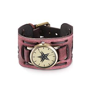 ieftine Cuarț ceasuri-Pentru femei Ceas La Modă Ceas Brățară Ceas de Mână Quartz Boem Rezistent la Apă Piele Negru / Roșu Analog - Negru Roșu Închis