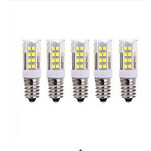 ieftine Îngrijire Unghii-5pcs 5 W Becuri LED Corn 2700-3000/6000-6500 lm E14 T 51 LED-uri de margele SMD 2835 Alb Cald Alb Rece 220 V / 5 bc / RoHs