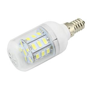 ieftine Becuri LED Corn-1pc 3w e14 bec de porumb condus 27 smd 5730 dc / ac 12 - 24v ac 110 - 220v cald / rece alb