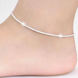 ieftine Bijuterii de Corp-Brățară Gleznă Simplu stil minimalist Small Pentru femei Bijuterii de corp Pentru Zilnic Casual Articole de ceramică Argintiu