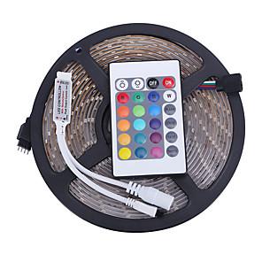 ieftine Inele-5m Bare De Becuri LED Rigide LED-uri 3528 SMD RGB Rezistent la apă / Telecomandă / Ce poate fi Tăiat 12 V / IP65 / Intensitate Luminoasă Reglabilă / De Legat / Potrivite Pentru Autovehicule