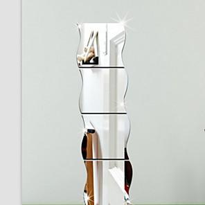 voordelige Wanddecoratie-Vormen / 3D Muurstickers Spiegel muurstickers Decoratieve Muurstickers, Vinyl Huisdecoratie Muursticker Wand Decoratie / Verwijderbaar
