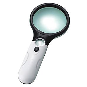 ieftine Lupe-Mâner 3 Magnification (Large Lens), 45 Magnification (Small Lens) Lupe 75mm Plastic