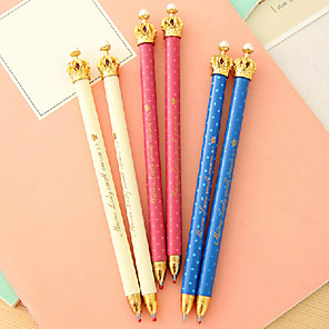 ieftine Carcase Creion-Stilou Stilou Pixuri cu Bilă Stilou, Plastic Albastru Culori de cerneală For Rechizite școlare Papetărie Pachet de