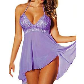 ieftine Costume Sexy-Pentru femei Uniforme Uniforme sexy Pijamale Sex Costume Cosplay Mată Rochie Tanga