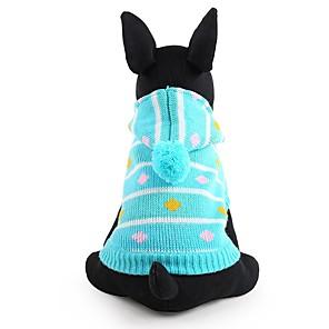 ieftine Câini Gulere, hamuri și Curelușe-Câine Pulovere Iarnă Îmbrăcăminte Câini Albastru Roz Costume Fibră Acrilică Dungi Keep Warm Modă XXS XS S M L