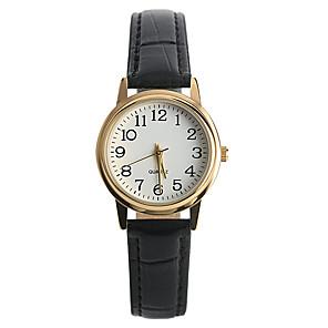 ieftine Ceasuri Brățară-Pentru femei Ceas de Mână Quartz Piele PU Matlasată Negru Ceas Casual / Analog femei Casual Modă - Negru Un an Durată de Viaţă Baterie / Tianqiu 377