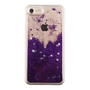 cheap Tablet Screen Protectors-Case For Apple iPhone 8 Plus / iPhone 8 / iPhone 7 Plus Flowing Liquid Back Cover Glitter Shine Hard PC