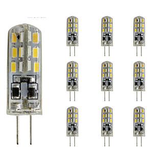 ieftine Spoturi LED-10 buc 1.5w subțire g4 led bec de cristal bi-pin 24 smd 3014 dc 12v verde albastru roșu lumina