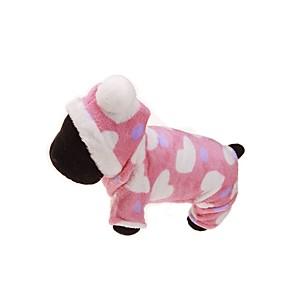 Недорогие Чехлы и кейсы для Galaxy A5-Собака Толстовки Комбинезоны Зима Одежда для собак Дышащий Розовый Костюм Фланель Цветочные ботанический Сохраняет тепло Спорт S M L XL XXL
