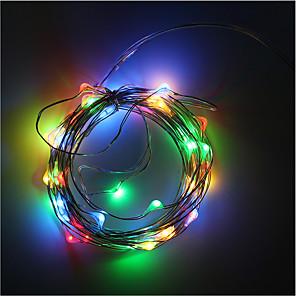 ieftine Îngrijire Unghii-Fâșii RGB 50 LED-uri Alb Cald / RGB / Alb Decorativ
