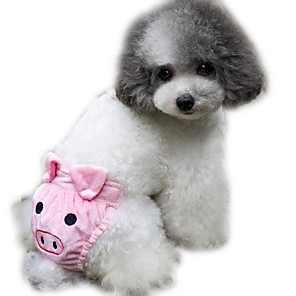 ieftine Ștanțare-Pisici Câine Pantaloni Iarnă Îmbrăcăminte Câini Galben Roz Cafea Costume Lână polară Bumbac Desene Animate S M L