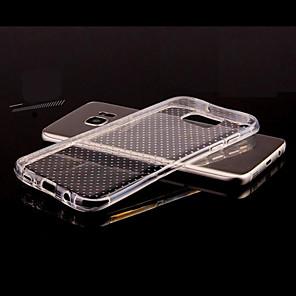 baratos Capinhas para Galaxy Série S-Capinha Para Samsung Galaxy S8 Plus / S8 / S7 edge Transparente / Com Relevo Capa traseira Sólido TPU
