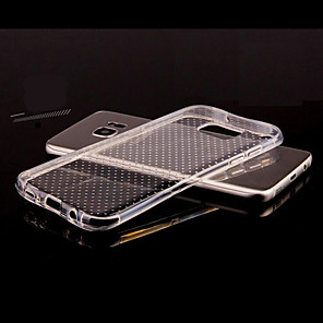 ieftine Carcase / Huse Galaxy S Series-Maska Pentru Samsung Galaxy S8 Plus / S8 / S7 edge Transparent / Embosat Capac Spate Mată TPU
