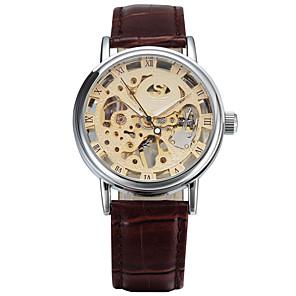 ieftine Ceasuri Bărbați-Bărbați Ceas Sport Ceas La Modă Ceas Elegant Mecanism automat Piele Autentică Multicolor 30 m Calendar Mare Dial Analog Clasic Vintage Casual - Auriu Alb Negru
