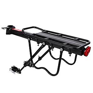 ieftine Pompe & Kickstands-Bike Cargo Rack Rack spate Sarcină maximă 50 kg Ajustabile Ușor de Instalat Aliaj din aluminiu Bicicletă montană - Negru