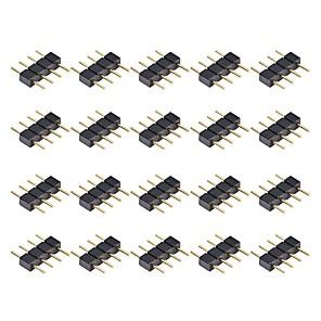 ieftine Accesorii LED-20pcs conector de 4 conectori pentru racord 3528 5050 smd rgb led