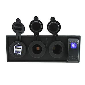 ieftine Întrerupătoare-dc 12v / 24v condus prize de putere de port 3.1a USB cu fire jumper-comutator basculant și suport pentru locuințe