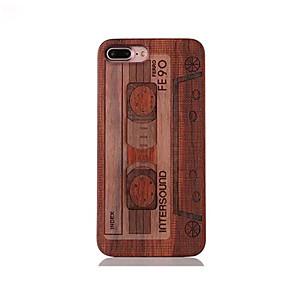 Недорогие Чехлы и кейсы для Galaxy S-Кейс для Назначение IPhone 7 / iPhone 7 Plus / iPhone 6s Plus iPhone 7 Plus / iPhone 7 / iPhone 6s Plus Защита от удара / Рельефный / С узором Кейс на заднюю панель Мультипликация Твердый деревянный