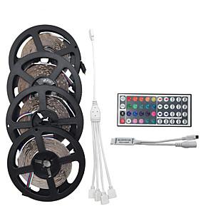 povoljno RGB trakasta svjetla-20m 4 * 5m 1200smd 3528 rgb 44keys i daljinski upravljač LED traka svjetla postavlja ac100-240v