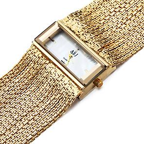 ieftine Ceasuri Damă-ASJ Pentru femei Ceas Brățară ceas de aur Piața de ceas Quartz femei Rezistent la Apă Cupru Argint Analog - Auriu Argintiu Un an Durată de Viaţă Baterie / Japoneză / Rezistent la Șoc / Japoneză