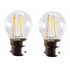 ieftine Ceasuri Damă-ONDENN 2pcs 2 W Bec Filet LED 160-200 lm B22 G45 2 LED-uri de margele COB Intensitate Luminoasă Reglabilă Alb Cald 220-240 V 110-130 V / 2 bc / RoHs