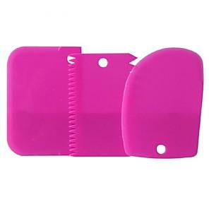 ieftine Ustensile & Gadget-uri de Copt-3pcs Plastic Ecologic Tort Plăcintă Ciocolatiu Spatule de copt & Patiserie Instrumente de coacere