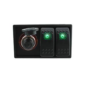ieftine Imbracaminte & Accesorii Căței-dc 12v / 24v condus soclu voltmetru digital cu fire jumper-comutator basculant și suport pentru locuințe