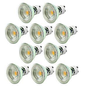 ieftine Spoturi LED-10pcs 5 W Spoturi LED 550-650 lm GU10 1 LED-uri de margele COB Intensitate Luminoasă Reglabilă Decorativ Alb Cald Alb Rece 220-240 V / 10 bc / CE