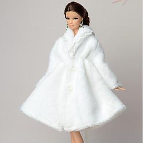 ieftine Haine Păpușă Barbie-Accesorii pentru papusi Haine de Păpușă Rochie de papusa Rochie de mireasă Petrecere / Seară Casual Nuntă Rochie De Bal Tul Dantelă Poliester Lână polară Pentru păpușă de 11,5 inci Jucărie făcut
