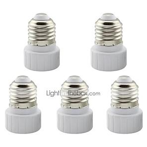 ieftine Spoturi LED-5 buc e27 la gu10 adaptor ceramic adaptor adaptor pentru soclu pentru lampa cu LED
