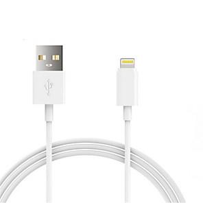 ieftine Încărcătoare Auto de iPhone-USB 2.0 / Iluminare Cabluri / Cablu 1m-1.99m / 3ft-6ft Normal Plastic / PVC Adaptor pentru cablu USB Pentru iPad / Apple / iPhone