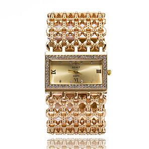 ieftine Ceasuri Damă-Pentru femei Ceasuri de lux Ceas Brățară Ceas de Mână Quartz Oțel inoxidabil Argint / Auriu Cool imitație de diamant Analog femei Sclipici Casual Atârnat Modă - Auriu Argintiu Roz auriu Un an Durat