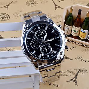 ieftine Proiectoare LED-Bărbați Ceas de Mână Quartz Oțel inoxidabil Argint Analog Charm Casual Modă Ceas Elegant - Negru Alb