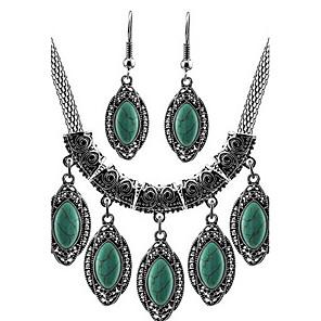 povoljno Naušnice-Tirkiz Komplet nakita Osnovni Naušnice Jewelry Zelen Za Dnevno