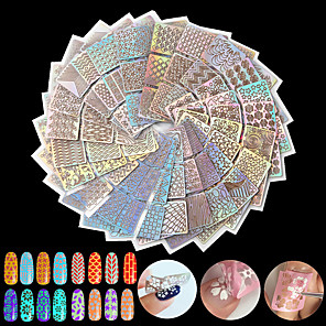 ieftine Benzi Lumină LED-24pcs Diecut Manichiură Șablon nail art pedichiura si manichiura Modă Zilnic