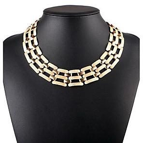 levne Módní náhrdelníky-Dámské Obojkové náhrdelníky Prohlášení Náhrdelníky Jeden pruh Prohlášení dámy Vintage Evropský Slitina Zlatá Stříbrná Náhrdelníky Šperky Pro Narozeniny Denní