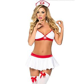 ieftine Costume Sexy-Pentru femei Cincizeci de umbre Asistente Adulți Sex Costume Cosplay Costume sexy Mată Vârf Fustă