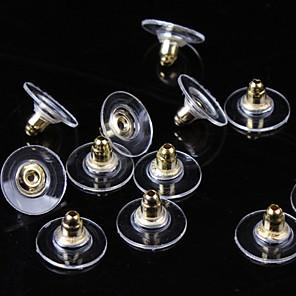 ieftine Cercei-Pentru femei Închizătoare Cercel femei De Bază Argilă Placat Auriu cercei Bijuterii Auriu / Argintiu Pentru Zilnic Casual 50buc