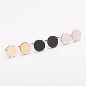 ieftine Ustensile & Gadget-uri de Copt-Pentru femei Cercei Stud femei Personalizat Modă Euramerican cercei Bijuterii Negru / Ca în Poză / Auriu Pentru Zilnic Casual