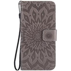 ieftine Carcase / Huse Galaxy Note Series-Maska Pentru Samsung Galaxy Note 5 / Note 4 / Note 3 Portofel / Titluar Card / Cu Stand Carcasă Telefon Floare Greu PU piele