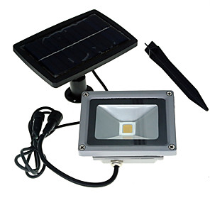お買い得  LED ソーラーライト-10 W LEDフラッドライト 取り付けやすい 温白色 / クールホワイト 24 V ガレージ/車庫 / 屋外照明 1 LEDビーズ