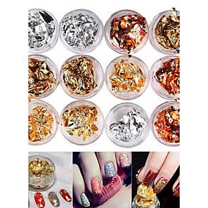 ieftine Îngrijire Unghii-12 pcs Glitters / Modă Nail Art Design Zilnic