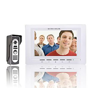 ieftine Testere & Detectoare-mountainone 7 inch kit de ușă telefon video de soneria de la intrare interfon 1-camera de 1-monitor viziune de noapte