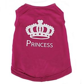 ieftine Imbracaminte & Accesorii Căței-Pisici Câine Tricou Îmbrăcăminte Câini Trandafiriu Costume Terilenă Tiare & Coroane Casul / Zilnic Modă XS S M L