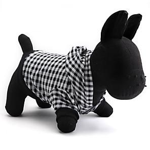 ieftine Gadget Baie-Pisici Câine Hanorace cu Glugă Îmbrăcăminte Câini Respirabil Negru Costume Bumbac Tartan / Carouri XS S M L