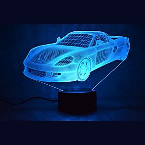 ieftine Tricouri LED-3D Nightlight Rezistent la apă Senzor Intensitate Luminoasă Reglabilă LED Modern contemporan USD 1 piesă