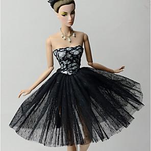 ieftine Haine Păpușă Barbie-Accesorii pentru papusi Haine de Păpușă Rochie de papusa Rochie de mireasă Petrecere / Seară Nuntă Rochie De Bal Tul Dantelă organza Pentru păpușă de 11,5 inci Jucărie făcută manual pentru cadourile